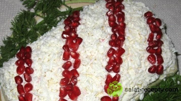 салат бусы на снегу рецепт