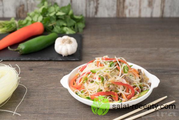 Фунчоза с мясом и овощами рецепт